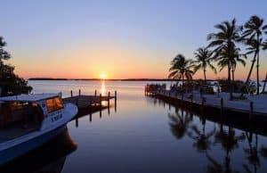 southwest florida sunset on the dock